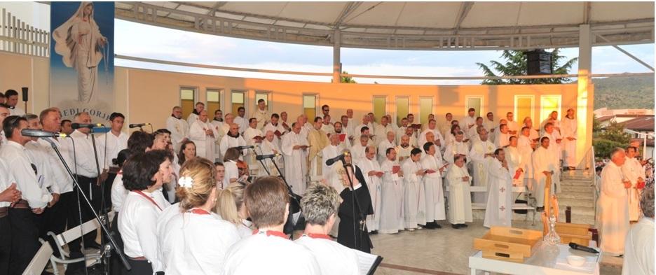 Coro en Medjugorje