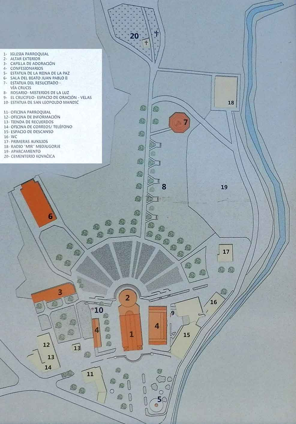 plano situacion parroquia Medjugorje
