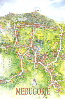 Mapa de Medjugorje